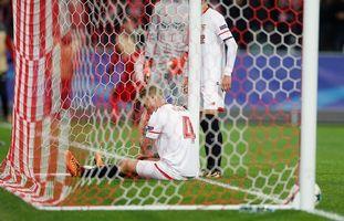 El Sevilla encajó en Moscú la segunda derrota más abultada de su historia europea