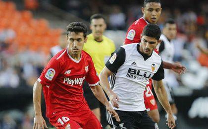 Jesús Navas y Guedes, en un lance del partido.
