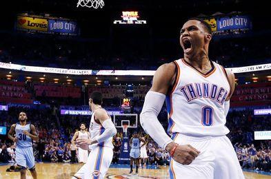 114-96. Westbrook logra un triple-doble que hace ganar a los Thunder