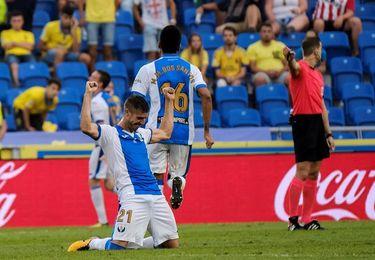Rubén Pérez entrena con normalidad y llegará al partido contra el Sevilla