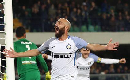 """Borja Valero marca al Hellas y """"su"""" Inter recupera la segunda plaza"""