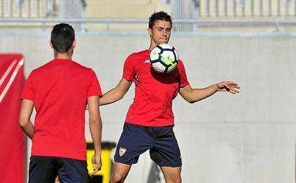 Corchia está empezando a tener más protagonismo en el Sevilla.