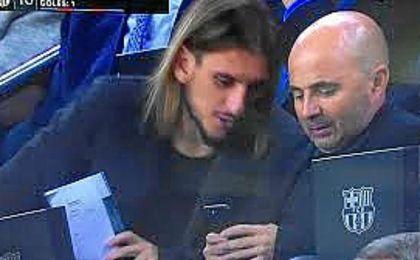 Castro deseó suerte a Sampaoli, testigo del buen partido de Pizarro