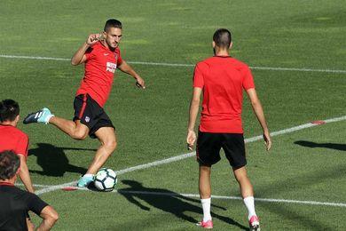 Koke y Carrasco se reincorporan al grupo en la vuelta al trabajo del Atlético