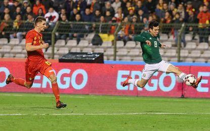 3-3. México empata con Bélgica en un festival con dobletes de Lozano y Lukaku