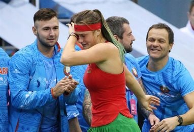 Aryna Sabalenka sostiene a Bielorrusia