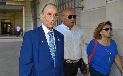Manuel Ruiz de Lopera, a su llegada a los juzgados la primavera pasada.