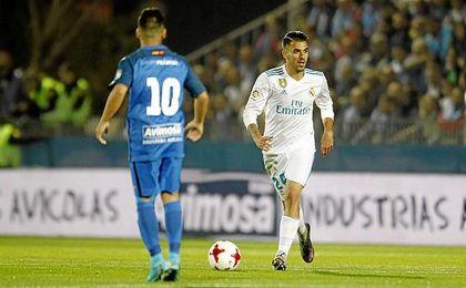 Ceballos fue titular en la Copa del Rey.