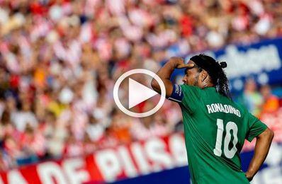 Ronaldinho muestra su clase en un partido por la paz