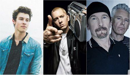 Shawn Mendes, Eminem y U2, entre los ganadores de los MTV EMAs