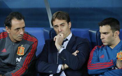 Lopetegui y Ramos se acuerdan de la eliminada Italia