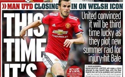Mirror viste a Gareth Bale del Manchester United