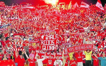Se espera en torno a 2.500 aficionados del Liverpool.