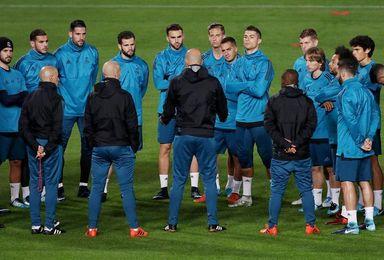 Suave sesión del Real Madrid en el GSP Stadium con los 20 convocados