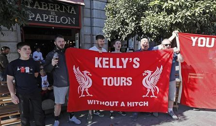 Fans of the Reds prepare for the Champions League against Sevilla FC