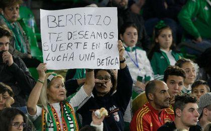 Mensaje de ánimo a Berizzo en el Villamarín