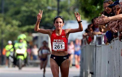 La peruana Gladys Tejeda gana el medio maratón de los Bolivarianos