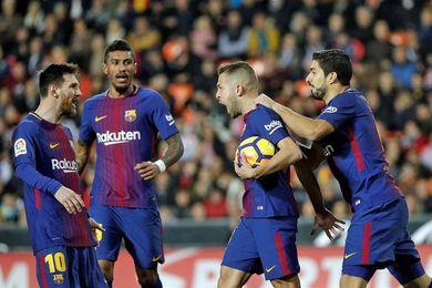 1-1. Valencia y Barcelona igualan en un partido vibrante