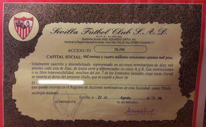 ¿A cuánto cotiza una acción del Sevilla?