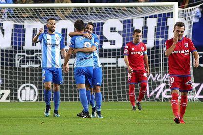 1-1. El Numancia elimina a un Málaga que no levanta cabeza