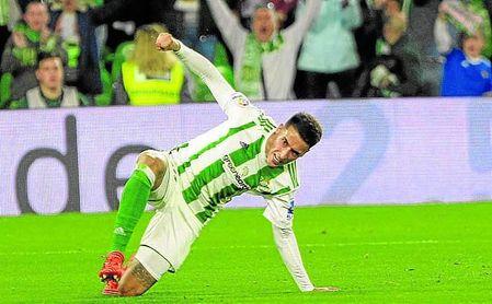 Tello anotó ante el Girona en el 94´ uno de los tres goles que el Betis ha marcado más allá del tiempo reglamentario.
