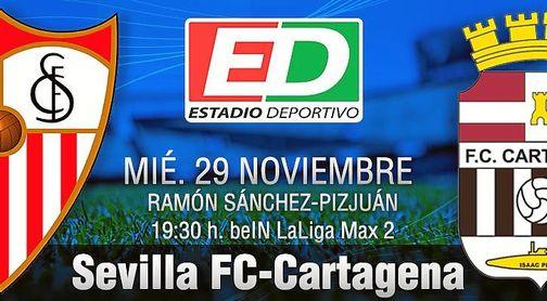Sevilla F.C.-Cartagena: ´Calentamiento´ para el turno de Marcucci.