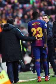 El francés Samuel Umtiti, ocho semanas de baja por lesión