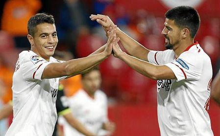 Ben Yedder y Nolito, titulares ante el Deportivo.