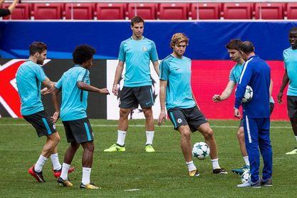 El Chelsea prepara el duelo contra el Atlético sin David Luiz ni Musonda