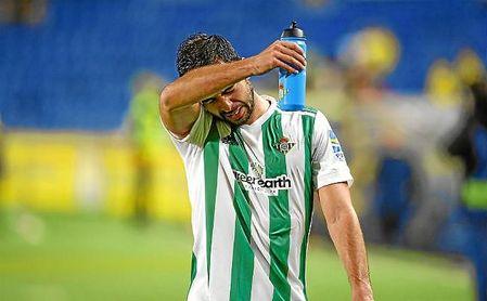 Amat acabó expulsado en Las Palmas.