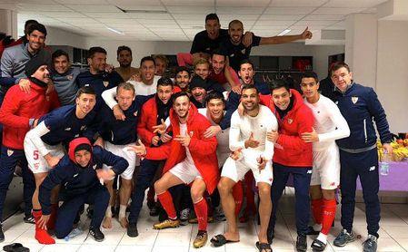 El Sevilla aterriza en San Pablo tras su clasificación