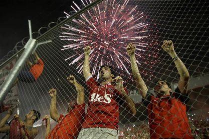 Independiente festeja en la previa de la definición de la Copa Sudamericana