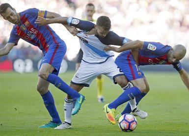 El Deportivo ha puntuado en tres de sus cinco últimas visitas al Camp Nou