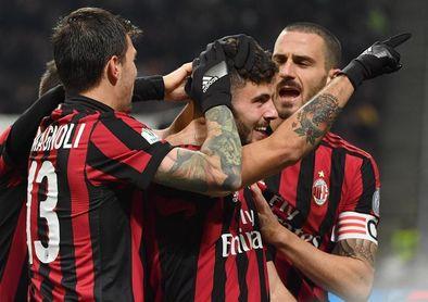 El Milan golea al ritmo de Suso y jugará el derbi con el Inter en cuartos