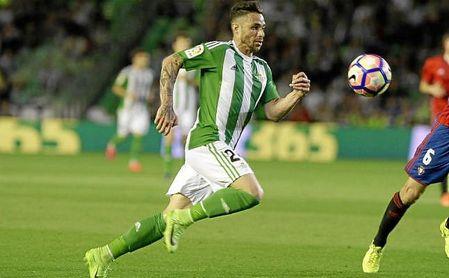 Rubén Castro, en el partido ante Osasuna la temporada pasada.