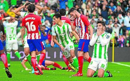 Ante el Atlético, mejoría pero sin gol.