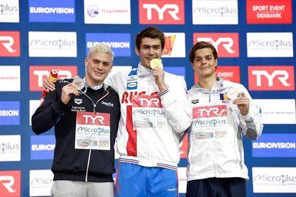 Nueva exhibición del ruso Kolesnikov en el Europeo de piscina corta que se disputa en Copenhague
