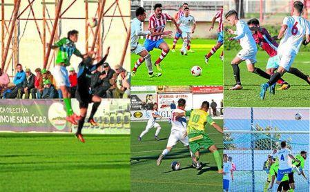 Imágenes de los encuentros Sanluqueño-Alcalá, Algeciras-Gerena, Sevilla C-Arcos, Utrera-Los Barrios, Castillejo-Espeleño