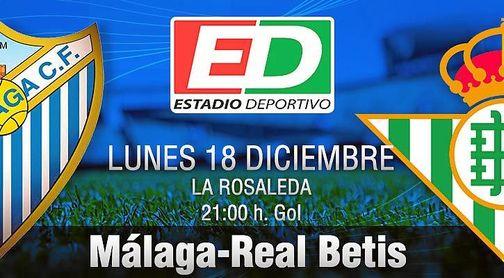 Málaga C.F.-Real Betis: Materialistas por necesidad.