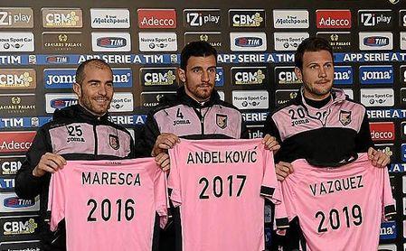 Maresca y Franco Vázquez coincidieron en el Palermo.