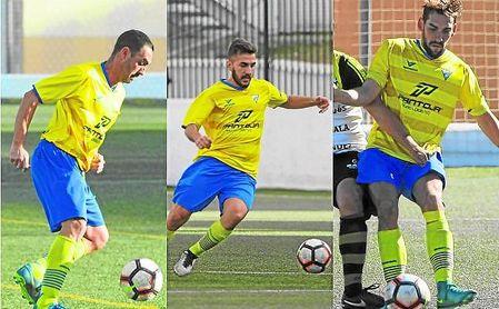 De izquierda a derecha, Lolo, autor de ocho goles, Leo, que ha anotado siete, y Enrique, que cuenta con tres dianas.
