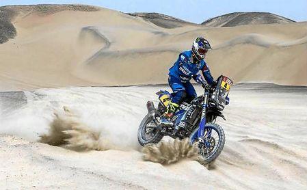 Van Beveren, nuevo líder del Dakar en motos al ganar cuarta etapa.