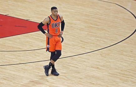 91-101. Westbrook se acercó al triple-doble en el triunfo de los Thunder
