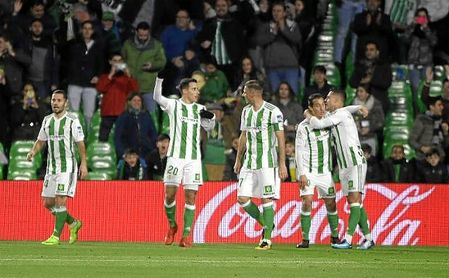 Tello hizo el primer gol del Betis ante el Leganés.