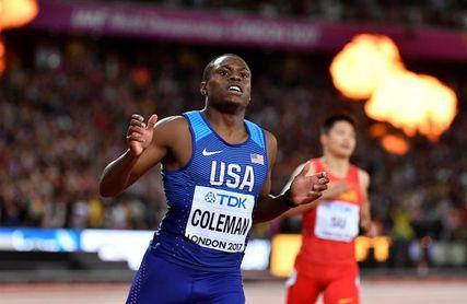 Christian Coleman bate el récord mundial de 60 m con 6.37