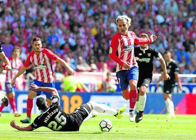 Griezmann, que será hoy la principal amenaza, ya anotó en el 2-0 sobre el Sevilla en Liga.