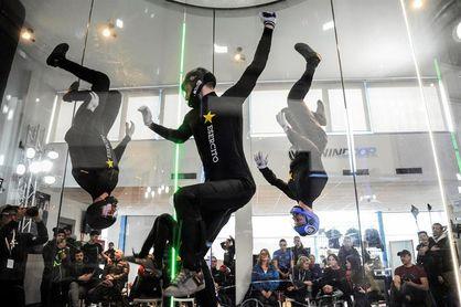 Unos 200 especialistas compiten en el túnel del viento con un sueño olímpico