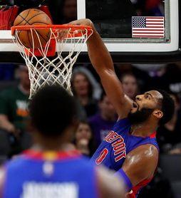 111-107. Drummond y Griffin surgen como la combinación ganadora de los Pistons