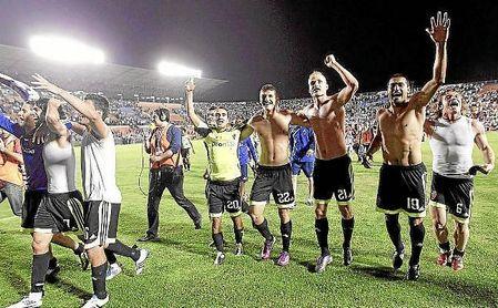Ese partido acabó con el Zaragoza certificando su permanencia en Primera.