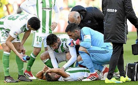 Feddal se rompió el tendón de Aquiles durante el partido ante el Villarreal.